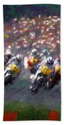 Motorcycle Race Bath Towel