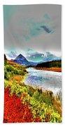 Mount Errigal, Donegal, Ireland, Poster Effect 1a Bath Towel