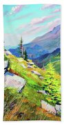 Mount Hoverla Bath Towel