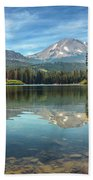Mount Lassen From Manzanita Lake Bath Towel