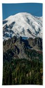 Mount Rainier - Cowilitz Chimneys  Bath Towel