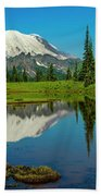 Majestic Reflection - Mount Rainier - 2 Bath Towel