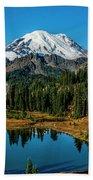 Natures Reflection - Mount Rainier Bath Towel