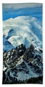 Early Snow - Mount Rainier  Bath Towel