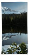 Mount Rainier Reflection Lake W/ Tree Bath Towel