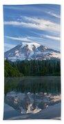 Mount Rainier Reflections Bath Towel