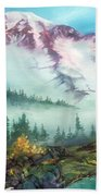 Mount Rainier Bath Towel