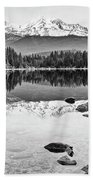Mount Shasta From Lake Siskiyou In California Bath Towel