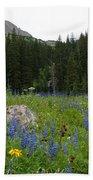 Mount Sneffels Lupine Landscape Bath Towel