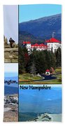Mount Washington Collage Bath Towel by Patti Whitten