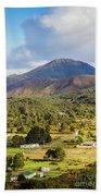 Mount Zeehan Valley Town. West Tasmania Australia Bath Towel