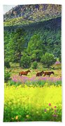 Mountain Horses Bath Towel