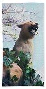 Mountain Lion - Paint Effect Bath Towel