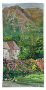 Mountain Scenery In Dale, Sandnes Bath Towel