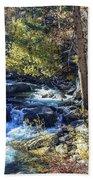Mountain Stream In Fall Bath Towel