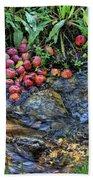 Mountain Stream In Oak Glen Bath Towel