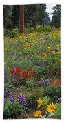 Mountain Wildflowers Bath Towel