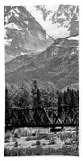 Mountains Alaska Bw Bath Towel