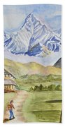 Mountains And Valley Bath Towel