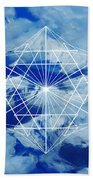 Mountains, Clouds And Geometry Bath Towel