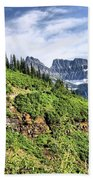 Mountains In Glacier National Park 1 Bath Towel
