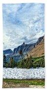 Mountains In Glacier National Park 2 Bath Towel