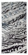 Mountains Patterns. Aerial View Bath Towel