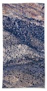 Mountainside Abstract - Red Rock Canyon Bath Towel