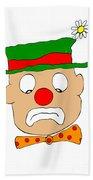 Mournful Clown Hand Towel