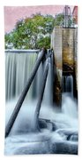 Mousam River Waterfall In Kennebunk Maine Bath Towel