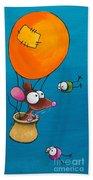 Mouse In His Hot Air Balloon Bath Towel