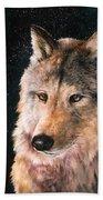 Moving Wolf Bath Towel
