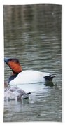 Mr And Mrs Canvasback Hand Towel