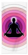 Meditation With Yoga Bath Towel