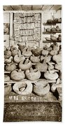 Mrs. Butts Mortar And Pestle Collection Found In San Benito Co. Bath Towel