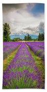 Mt. Hood And Lavender Bath Towel