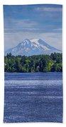 Mt Rainier Blues Bath Towel