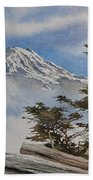 Mt. Rainier Landscape Bath Towel