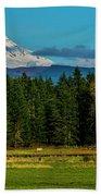Mt Rainier Moonrise,wa Bath Towel
