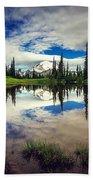 Mt Rainier Reflections Bath Towel