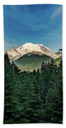 Mt Rainier Through The Trees Bath Towel