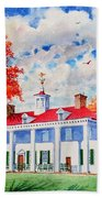 Mt. Vernon East Front In Fall Hand Towel