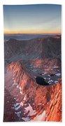 Mt Whitney And Pinnacles Sunrise - John Muir Trail Bath Towel