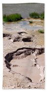 Mud Volcano Area In Yellowstone National Park Hand Towel