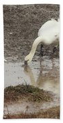 Muddy Tundra Swan Bath Towel