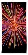 Multicolored Fireworks Bath Towel