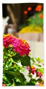 Multicolored Flowers Bath Towel