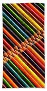 Multicolored Pencils In Rows Bath Towel