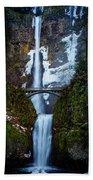 Multnomah Falls Frozen Bath Towel