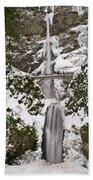 Multnomah Falls Winter Bath Towel